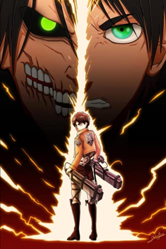Attack on Titan Notebook: Eren Jaeger, Anime Notebook, College ruled, 6x9 inches, 120 pages, best gift for anime fans