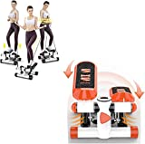 ZZTX Máquina de Ejercicio Paso a Paso Step Mini, Pedal de Motor aeróbico Paso a Paso, Equipo Deportivo pequeño con Cuerdas de Fitness para el hogar, 1 Pieza