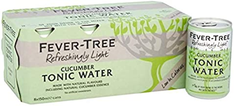 Fever-Tree Refreshingly Light Cucumber Tonic Water Cans 8 x 150ml