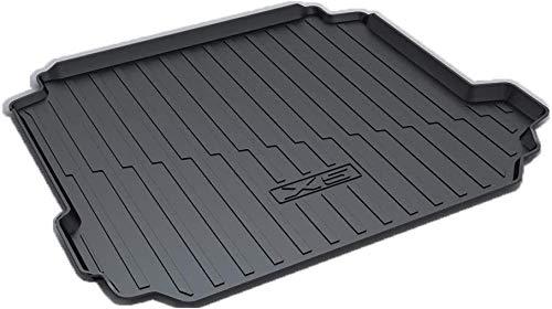 Trunk mat Heavy Duty Cargo Liner Floor Mat- All Weather Trunk Protection, Custom Tailored to Fit for B-MW x5 2019 Sedan/Saloon, Durable HD Rubber Protection,Black,Colour:Black Rear luggage cushion