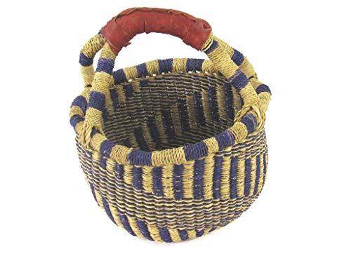 Kleiner Kinder Einkaufskorb Ø ca. 20cm | Handarbeit | Bolga | Fair Trade (Variante 4)