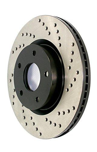 StopTech 128.40087L Sport Cross Drilled Brake Rotor (Rear Left), 1 Pack
