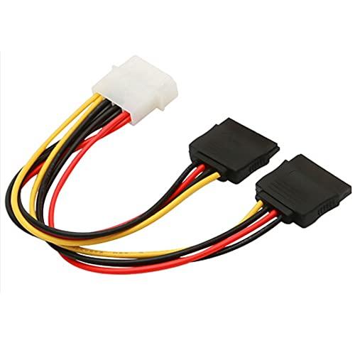 Cmstop 4Pin IDE Molex a 15Pin Serial ATA SATA Cable Adaptador de Corriente Y Splitter Disco Duro Fuente de alimentación Cable de conexión para computadora de Escritorio