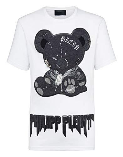 Philipp Plein Camiseta Corte Negro Cuello Redondo Teddy Bear