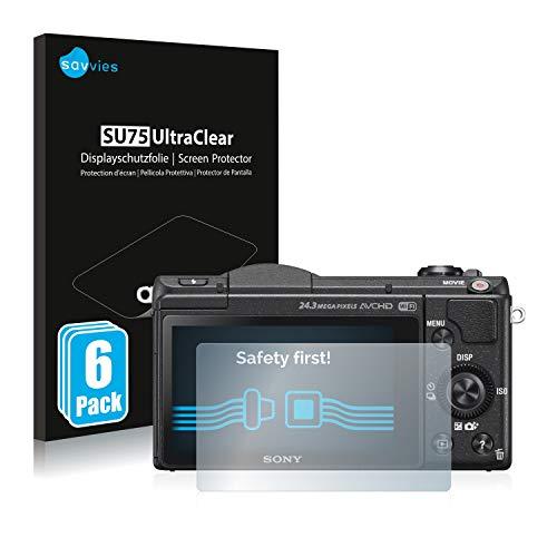 savvies Protector Pantalla Compatible con Sony Alpha 5100 (DSLR-A5100) (6 Unidades) Pelicula...
