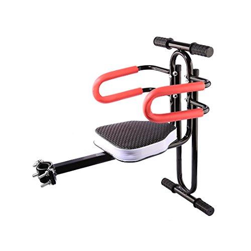 LVPY Kindersitz, Modischer Abnehmbarer Fahrrad-Vordersitz Kindersitz Pedal mit Griff für Herrenfahrrädern und Damenrädern,Schwarz