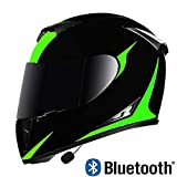 Actoor Bluetooth Integrado Modular Casco Moto Integral para Motocicleta, Personalidad Fresca Casco con Doble Visera, para Montar al Aire Libre