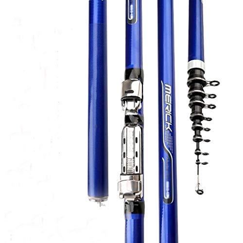 Fibra de Carbono 3.6M 4.5M 5.4M 6.3M Spinning caña de Pescar telescópica M Power Roca caña de Pescar Carpa alimentador de Barra de la Resaca de Giro Rod 1pc (tamaño : 6.3 m)