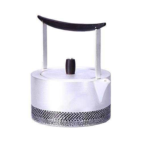 Silver Handmade Pot S999 Sterling Silver Teapot Kettle Hot Water Teapot Teapot Kettle Tea Bowl Fuel Oil Filter Party GONG