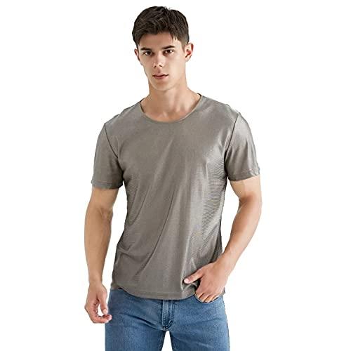 TSMALL Camiseta con Cuello en O para Hombre con protección EMF, 100%...