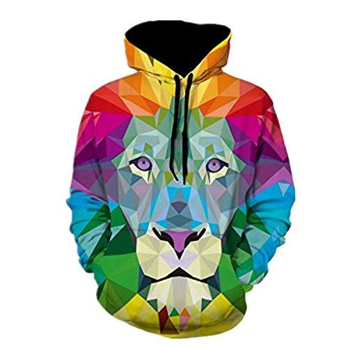 Bravetoshop Man 3D Novelty Hoodies Graphic Patterns Print Hoody Long Sleeve Hodded Pullover Sweatshirt Pockets (Multicolor-E,M)