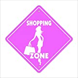 SignMission Einkaufstasche Crossing Sign Zone Xing |-| 30,5 cm Hoch Mall Shopper Kleidung Center...