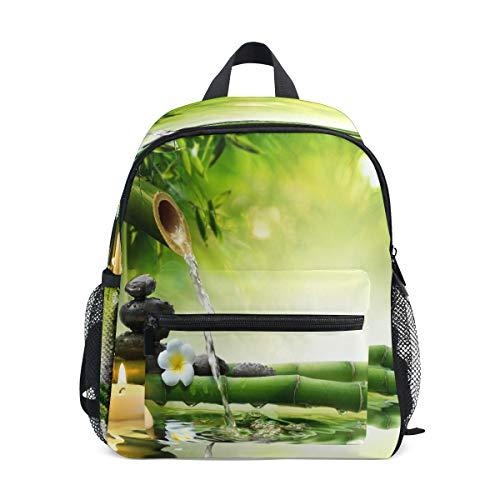 RXYY Kinder Rucksäcke Chinesisch Stones Bambus Tagesrucksäcke Reise Kleinkind Vorschule Schule Tasche Beiläufig Rucksack mit Truhe Gurt zum Mädchen Jungs