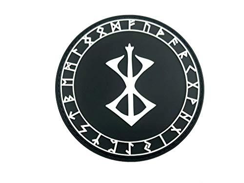 Berserker Marke des Opfers Rüstung Viking Wikingers PVC Airsoft Paintball Klett Emblem Abzeichen Patch