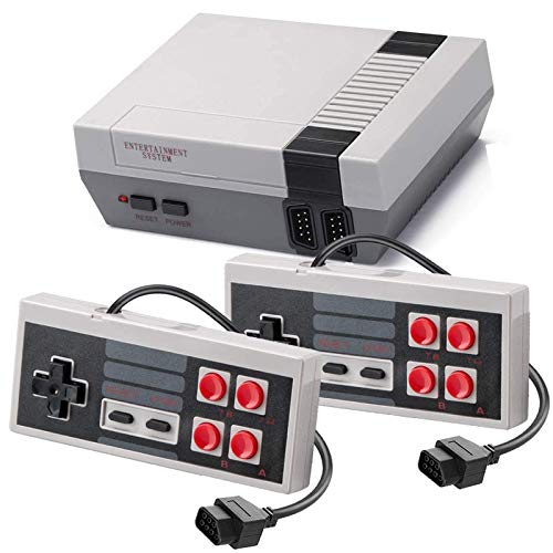 Classic NES Retro Console, AV Output Mini Video Game Console Built-in 620 Games with 2 Classic Controllers for Kids, Children Gift