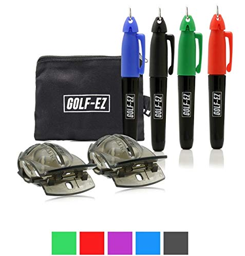 Golf-EZ Golf Ball Line Drawing Alignment Tool Kit with Carry Case