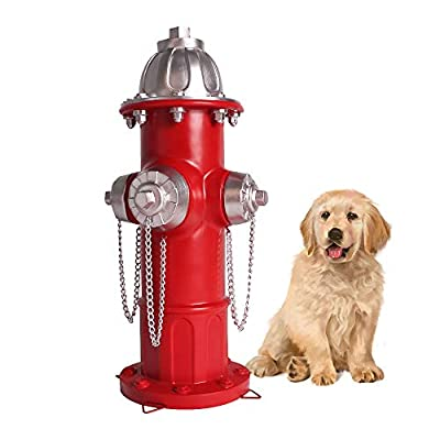 Lathamsea 14.5 Inches Training Small Dog Puppy?Only Suitable for Puppies? Pee Post Fire Hydrant Statue with 4 Stakes for Outdoor Garden Patio Yard Ornament Decorations