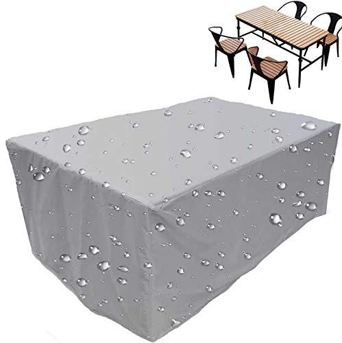 ZCED Fundas para Muebles De Jardín, Cubiertas De Muebles De Jardín Oxford 420d Impermeable Cubiertas De Mesa Resistentes Al Desgarro Y Prueba De Polvo Viento Nieve,200x140x90cm(79x55x35in)