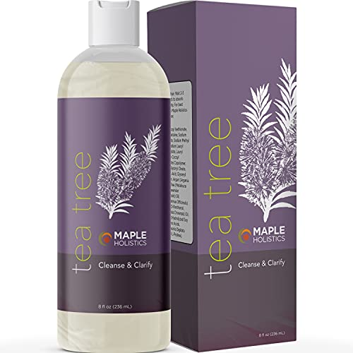 Tea Tree Oil Shampoo Sulfate Free - Cleansing Tea Tree Shampoo Scalp Exfoliator and Dry Scalp Shampoo for Scalp Care - Daily Clarifying Shampoo for Oily Hair Care Products with Tea Tree Essential Oil