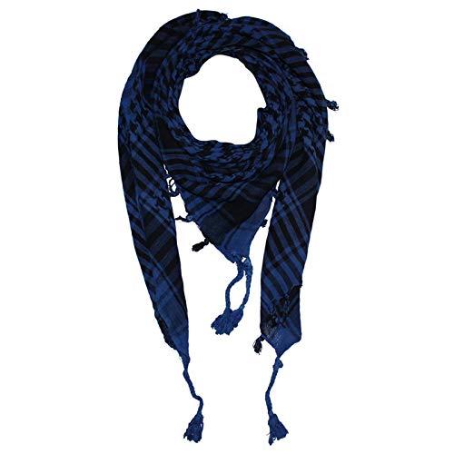 Freak Scene Kufiya - Keffiyeh - tejido basico azul-negro - 100x100 cm - Pañuelo palestino de Arafat - PLO Pali chal - 100% algodón