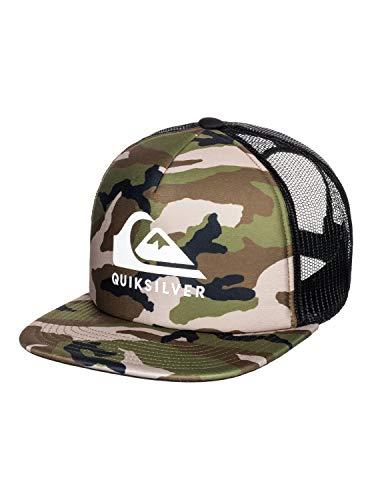 cappello quiksilver Quiksilver Cappellino Trucker Foamslayer Camo Berretto Baseball Cappello Hiphop Taglia Unica - Camouflage