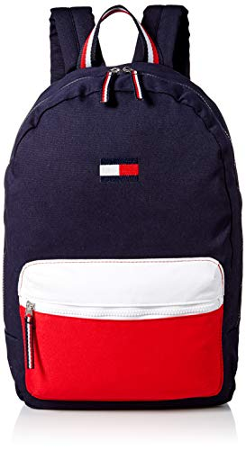 Tommy Hilfiger Women's Backpack Patriot Colorblock Canvas, Core Navy