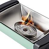 Enders® 1363 Aurora raucharmer Tischgrill, mobiler Holzkohle-Grill, kleiner Grill, rauchfreier Tischgrill, Balkon-Grill, Picknick-Grill, Camping-Grill, Grill mit Belüftung, taupe - 7