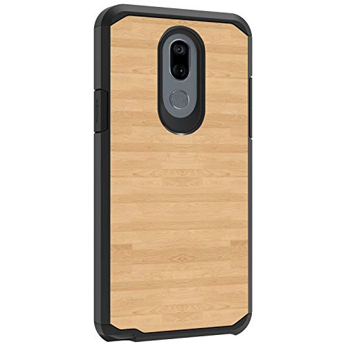 TurtleArmor | kompatibel mit LG Stylo 5 | Stylo 5 Plus Hülle | Stylus 5 Hülle | L722DL | Slim Dual Layer TPU Hard Armor Hybrid Shell Hülle -, Maple Wood