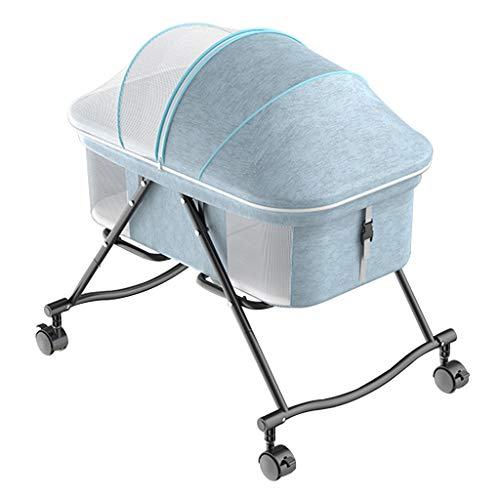 Buy Bargain Balance Bouncer Cradle 2-1 Portable Bassinet for Baby Foldable Baby Bed Baby Crib Natura...