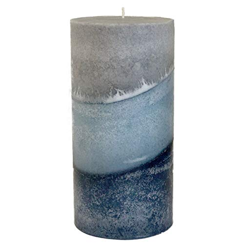 Wicks N More Indigo Mist Handmade Pillar Candles (3x6)