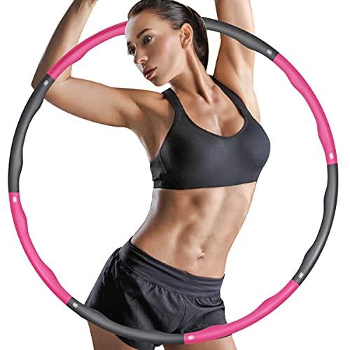 ZIMAIC Hula Hoop Reifen, Hula Hoop für Erwachsene & Kinder zur Gewichtsabnahme und Massage, 6-8 Segmente Abnehmbarer Hoola Hoop Reifen Geeignet Für Fitness/Sport/Zuhause/BüRo/Bauchformung(1.2Kg)