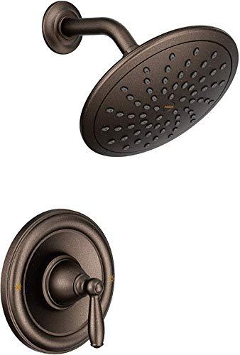 Moen T2252EPORB Brantford Posi-Temp Shower Trim Kit, Valve Required, including 8-Inch Eco-Performance Rainshower, Pack of 1, Oil Rubbed Bronze