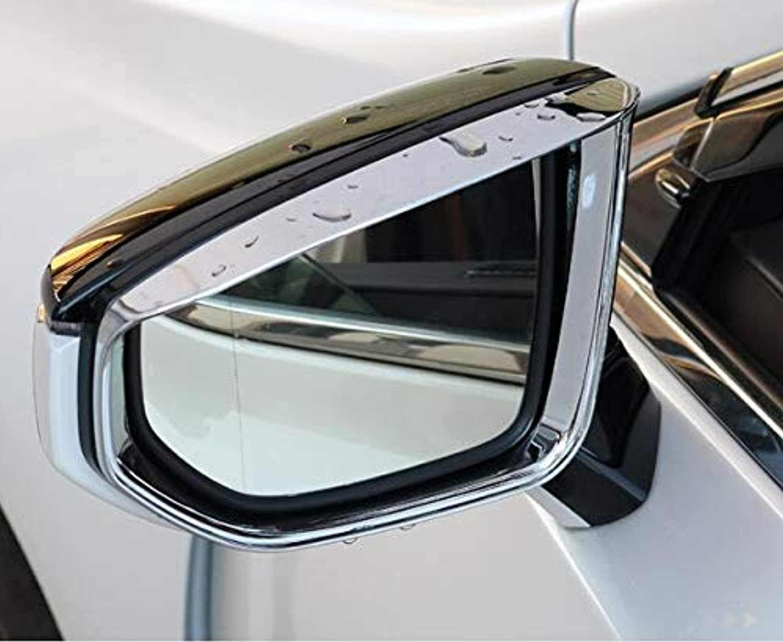 Car Styling Car Accessories for 18 ES200 ES260 ES300H Rearview Mirror rain Eyebrow Rear Mirror Visor Decorative Stickers 2pcs  (color Name  18 ES Silver)