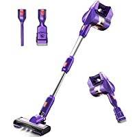 KOXXBASS Lightweight 3 Speed Modes Vacuum Cleaner with LED Headlights Detachable Battery for Home Hard Floor Carpet