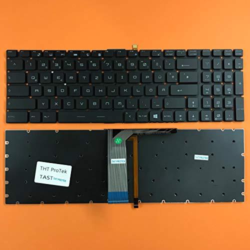 kompatibel für MSI GT72 Tastatur - Farbe: Schwarz - mit Beleuchtung - ohne Rahmen Deutsches Tastaturlayout