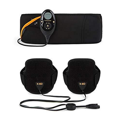 Slendertone Pack Cinturón Abs7 y brazaletes tonificantes para Hombre Electroestimulacion, Unisex-Adult, Negro, 69-119cm, 27-47cm