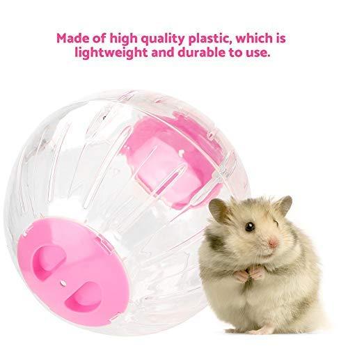 18,5 cm Stille Hamster Übungsrad Mini Jogging Running Ball Acryl Außenring Aerodynamisches Design Laufband Rad für Rennmäuse Chinchillas Meerschweinchen Kleintiere(Rosa)