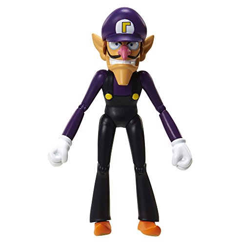 World of Nintendo 91445 4' Waluigi with Coin Action Figure