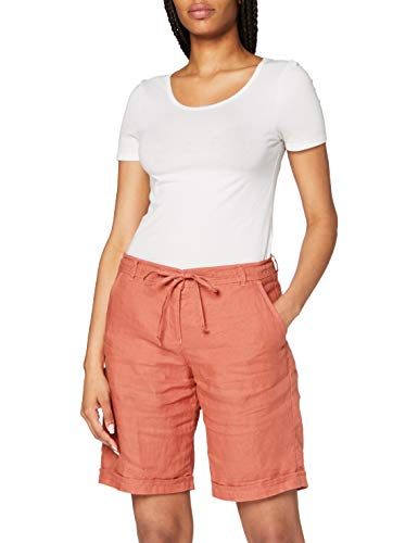 BRAX Damen Style Mel B Linen Love Hose, Rosewood, W(Herstellergröße: 38)