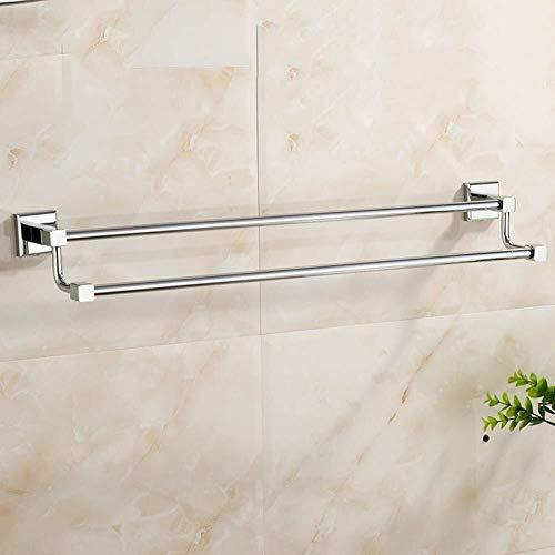 DNSJB toallero simple personalidad europea toalla de cobre doble barra doble baño toallero baño baño