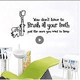 Üppige Putzen Sie Ihre Zähne Umweltschutz Vinyl Aufkleber