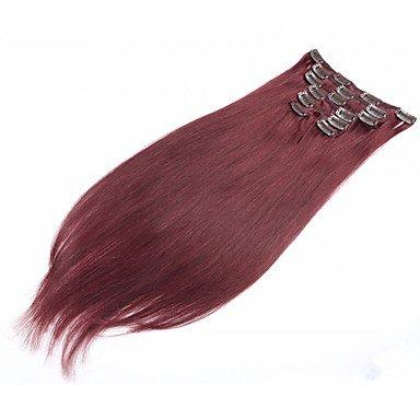 MZP extension de cheveux clip dans les cheveux humains vulgarisation 7pcs / set 70g 15 \