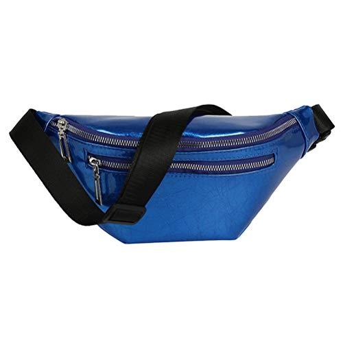 Sports de plein air Sac de taille Sac Fanny Sac Sac à bandoulière Sac à bandoulière pour les filles (Bleu)