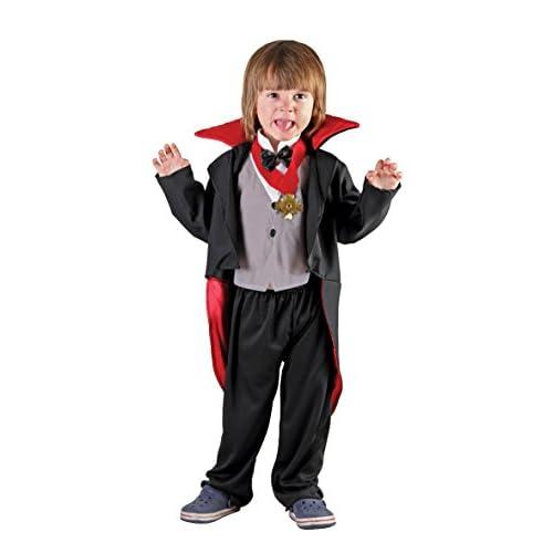Boland- Costume Vampiretto Bambino Creepy Vampire, Nero/Rosso, 3-4 anni, 78091