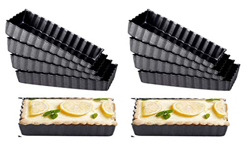 Haudang Rechteck Antihaft-Kuchenform Tart Pan Pie Pan Abnehmbarer Boden Antihaft Quiche Pfannen Heavy Duty Pizza Pan