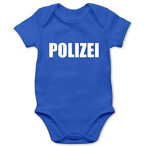 Shirtracer Karneval und Fasching Baby - Polizei Karneval Kostüm - 1/3 Monate - Royalblau - faschingskostüme Polizei - BZ10 - Baby Body Kurzarm für Jungen und Mädchen