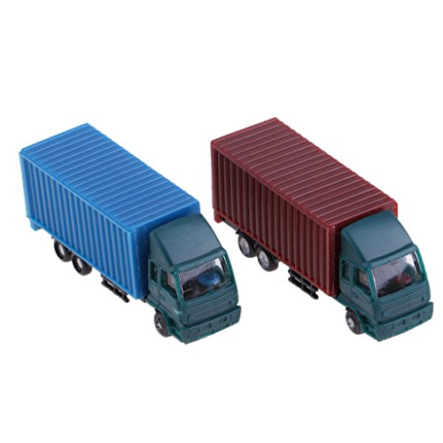 Hellery 2 Stück Spur N Container LKW Güterwagen Modell Spielzeug Kinder 1: 150 L-53mm