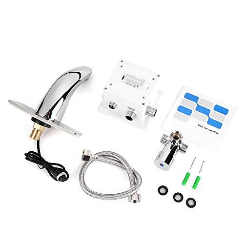 Grifo con sensor automático, grifo electrónico Wacent, sensor automático electrónico, fregadero sin contacto, manos libres, grifo frío y caliente activado por movimiento
