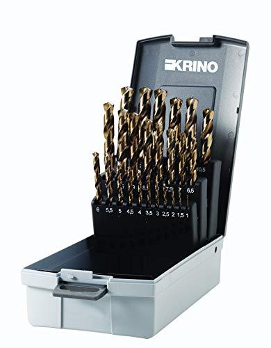Krino 01155302 - HSS-CO Set Punte Rettificate In Cobalto Per Acciaio Inox - 25 Pezzi