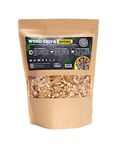 Premium Räucherchips von JSM® | 100% Natürliche Smoker-Holzchips für besondere Rauch- und Geschmackserlebnisse | Für alle Grills geeignet | Extra große Packung - 1 kg (Kirsche)